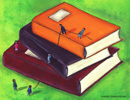 Graphic of books; Size=130 pixels wide